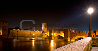 Castelvecchio by Night (1357) - Verona Italy