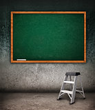 Empty chalkboard