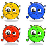 vector set of cartoon germs