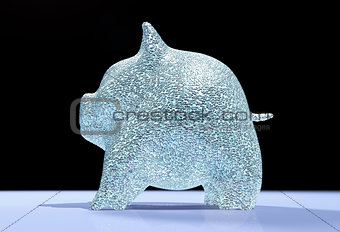 Pig piggy is full of diamonds