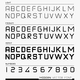 Modern Vector Font