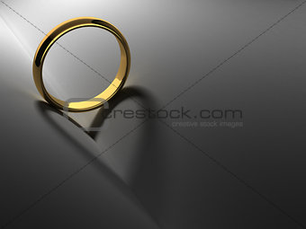 Ring with heart shadow