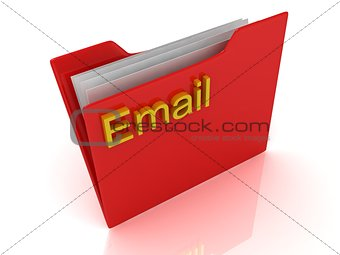 Email red computer folder labeled