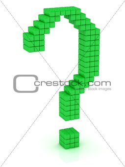 Green question mark cube