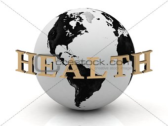HEALTH abstraction inscription around earth