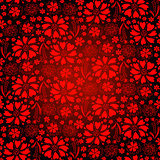 Seamless dark-red floral pattern