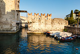 Medieval Castle on Lake Garda in Sirmione, Northern Italy