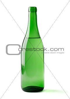 bottle of wine isolated on a white