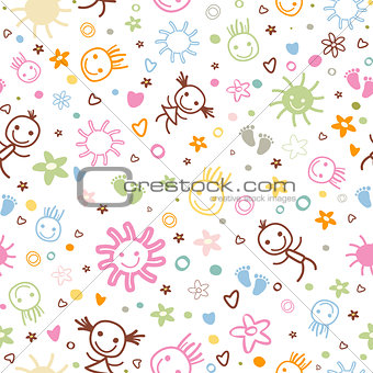 baby seamless pattern