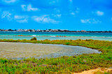 Estany Des Peix in Formentera, Balearic Islands, Spain