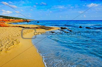 Migjorn Beach in Formentera, Balearic Islands, Spain