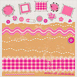pink scrapbook kit