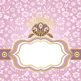 Spring pink-gold easter frame