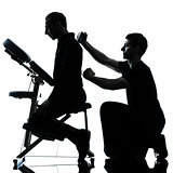 back massage therapy with chair
