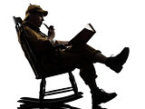 sherlock holmes reading silhouette