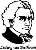 Ludvig von Beethoven (vector)