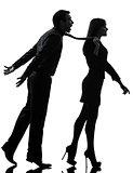 couple woman seductress bonding concept  silhouette
