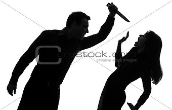 couple man killing woman  silhouette