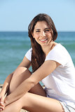 Portrait of a beautiful teen on the beach