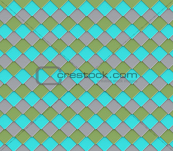 3d abstract diagonal square diamond shape tile backdrop