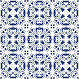  classic vintage seamless pattern in blue and gray