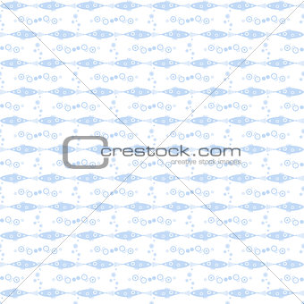 Seamless fish and floral pattern