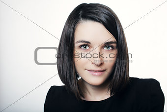 beautiful girl looking at the camera