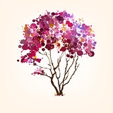 Spring vector tree of blots