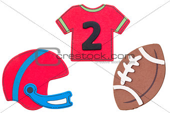 Football jersey on white