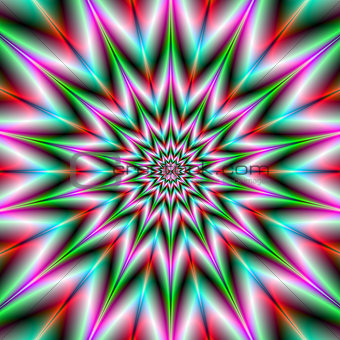Green and Pink Star