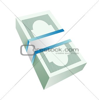 money bills stack illustration design