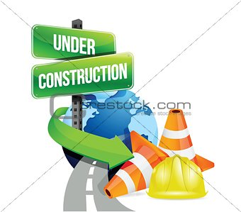 under construction global roads