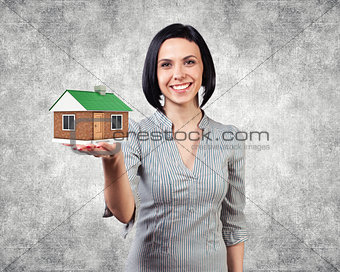 Girl with a house