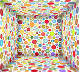 3d illustration square bubble empty space