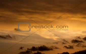 Beautiful sunrise, beautiful dramatic clouds