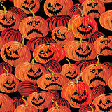 Halloween seamless background with pumpkin