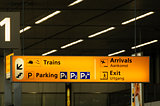 Information sign in airport