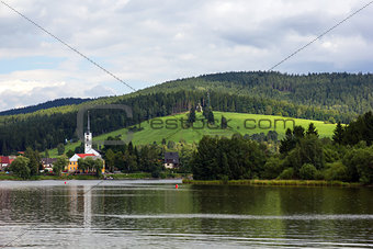 Frymburk at Lipno lake in Czech Republic.