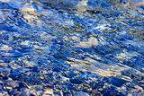 pebbles under water