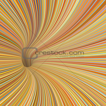 3d render tunnel vortex in orange yellow colors