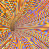 3d render tunnel vortex in orange pink 