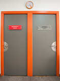 Two doors in a hospital