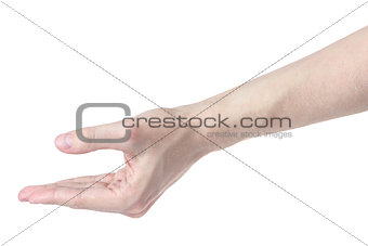 adult man hand to grab something
