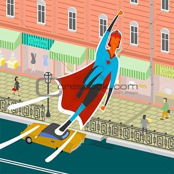 Flight superhero