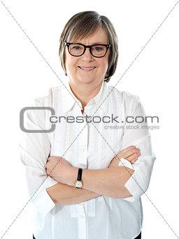 Caucasian senior business executive