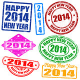 2014 new year stamps