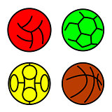 Set sport balls. Vector illustration