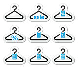 Sale, buy 1 get 1 free  hanger icons set