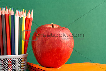 Apple and pencils