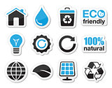Ecology, green, recycling vector icons set